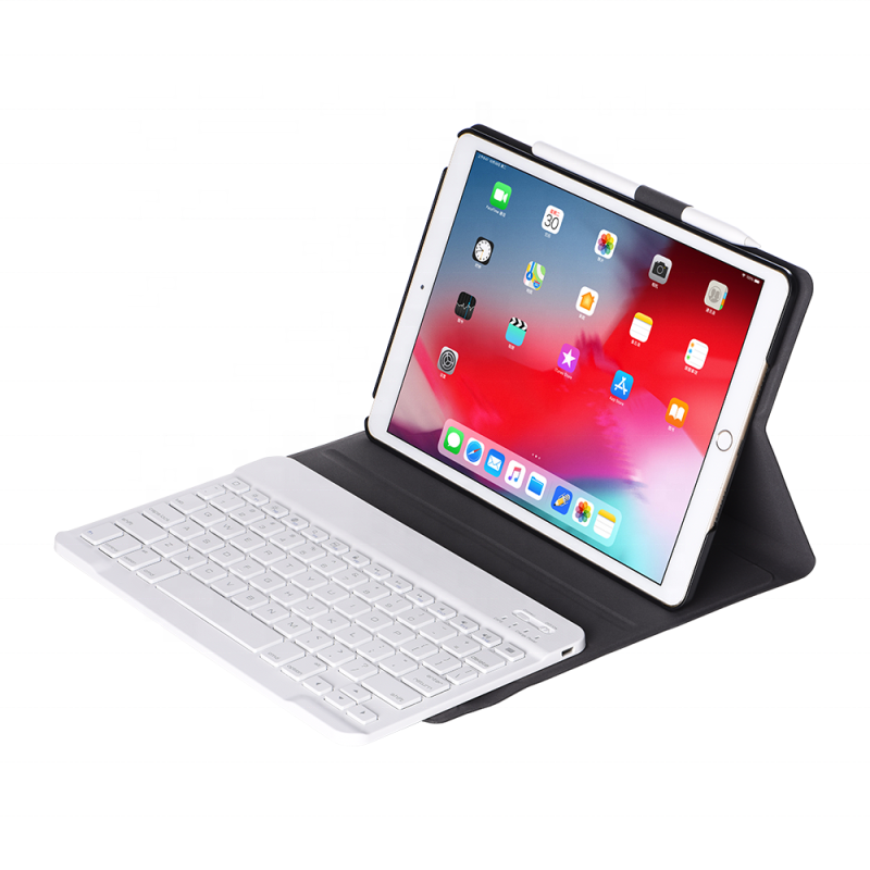 For <strong>Ipad</strong> 10.2 Keyboard Case 7th Gen Detachable Smart Case With Bluetooth Keyboard