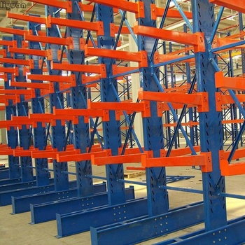 Corrosion Protection Galvanised Cantilever Racking long pipe lumber sheet racks shelves