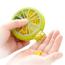 Nice Fruit Shape Pill Box 7 Day Round Tray Medicine Vitamins <strong>Container</strong>