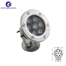 12V underwater restaurant lamp RGB flood 7W spring spot light for resort