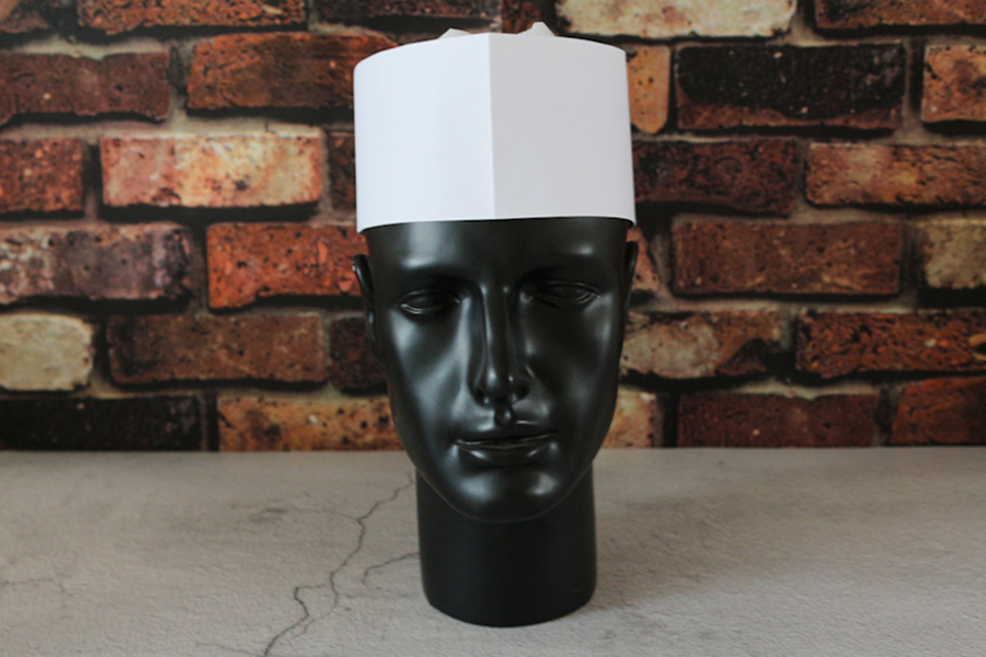 Factory customization white paper forage cap made of wood pulp paper/disposable paper chef hat
