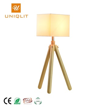 Modern Style Lighting Indoor Original Wood Tripod Table Lamp For Living Room Creative