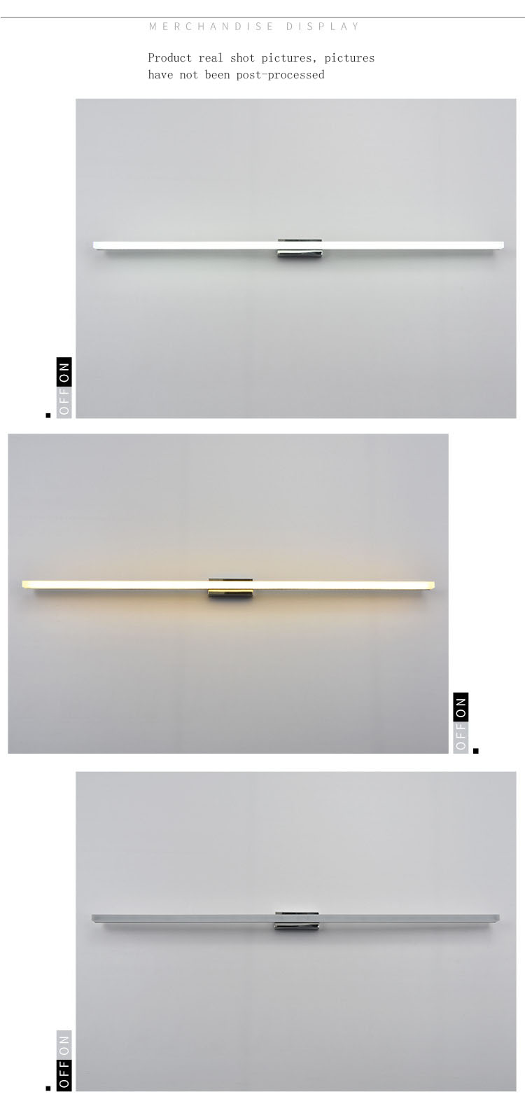 Wholesale modern bathroom wall lamp waterproof customizable size LED mirror headlights