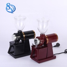 Portable electric burr coffee grinder coffee bean grinding machine for commercial use or home use