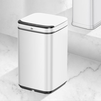 Hotel household stainless steel trash indoor waste bin smart
