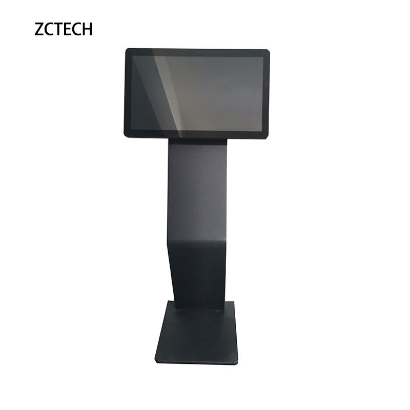 Floor standing digital signage totem 22 inch interactive restaurant e-menu touch screen <strong>payment</strong> kiosk