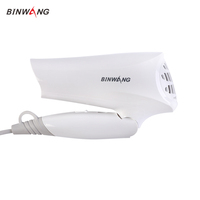 1200W Lightweight Small White Foldable Mini Blow Dryer Travel 110-240v Hair Dryer