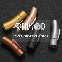 REAMOR 5pc <strong>Hole</strong> Size 4/5/6/8mm Jewelry Findings Hook Connector 316L Stainless Steel Clasps For Leather Bracelet