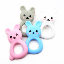 DIY Baby Dummy Pacifier Sensory Funny Teeth Toys silicone bunny teether