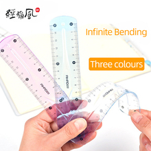 15 cm plastic flexible soft ruler for kids school stationary, Support customization