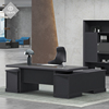 Office furniture desk with locking drawer executive standard desk workstation modern modular l shaped black office desk