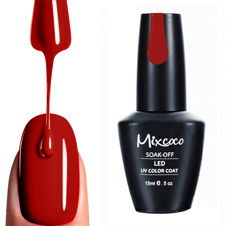 15ml Mixcoco 192 colors hot selling Color UV <strong>Gel</strong> Polish High Gloss 200% Shinny Nail <strong>Gel</strong> Polish