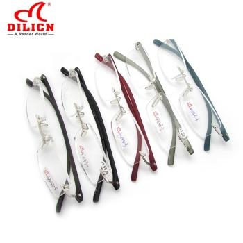 Manufacturer wholesale custom logo brand fashion unisex mens and woman cheap computer rimless plastic reading eye glasses