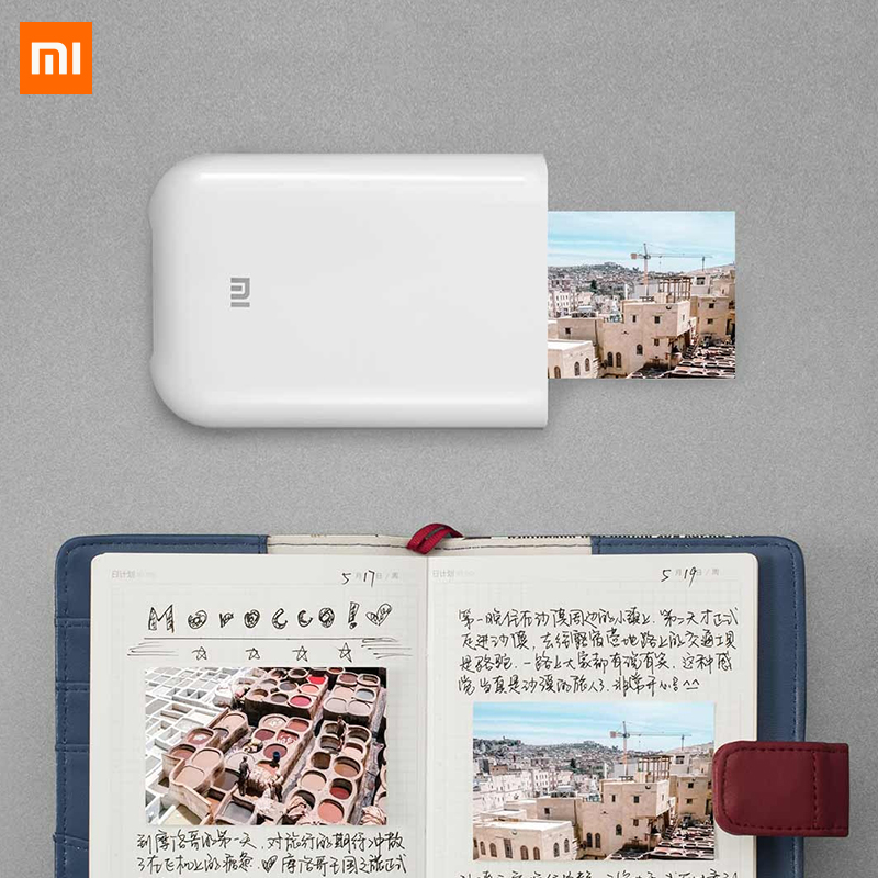 XiaoMi Mijia AR Printer 300dpi Portable Mini Travel Party Photo Picture Printer with Pocket <strong>Camera</strong> DIY Share 500mAh Picture