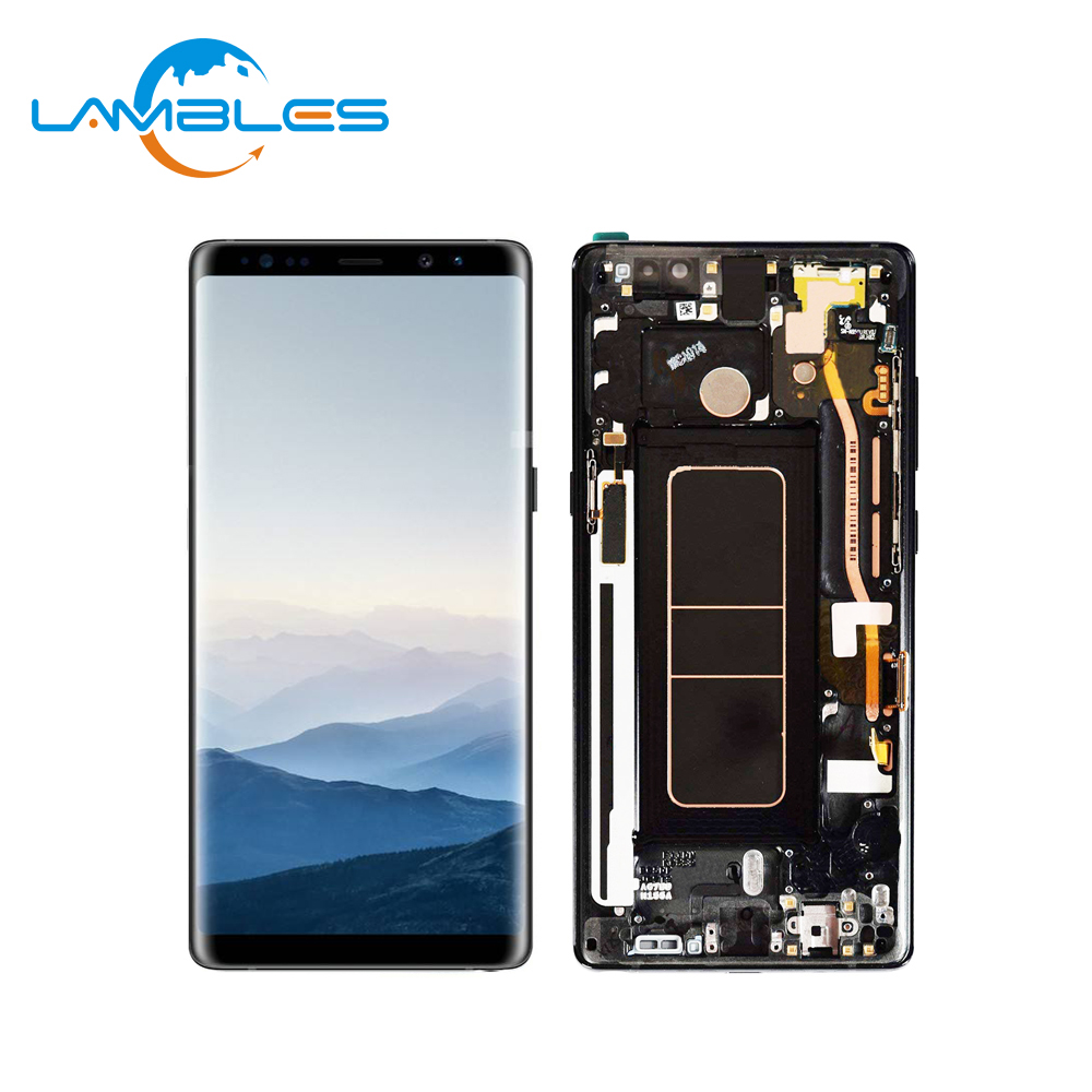 For Samsung Galaxy Note 8 LCD SM-N950 Digitizer Touch Screen <strong>w</strong>/ Frame N950F N950U, LCD For Samsung Note 8 With Frame