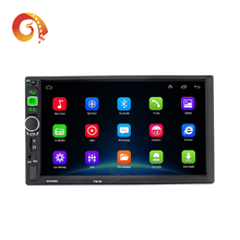2 din 7 Inch Android 1024*600 HD 1080P Full Touch Screen bluetooth mirror vlc apk stereo Car radio system DVD player