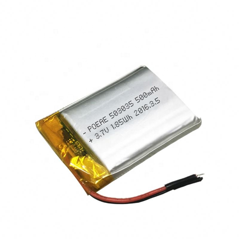 Pouch custom ultra thin 3.7v 500mah lipo <strong>battery</strong> for POS machine active speaker