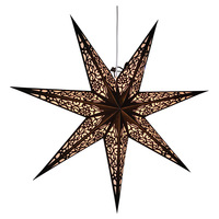 Implanted velvet cloth double layer paper star of different sizes customizable for Christmas decorations or party decorations