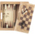 Wholesale 3 in 1 combo folding excellent custom design hardwood wood backgammon checkers modern classics