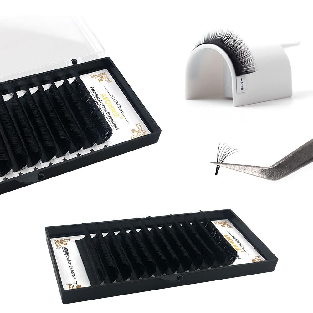 0.05mm dark and matte black mega volume lashes <strong>1</strong> Second blooming Fan lashes Rapid Volume Easy fan lashes