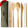 Biodegradable Reusable Travel Bamboo Cutlery Set With customized package