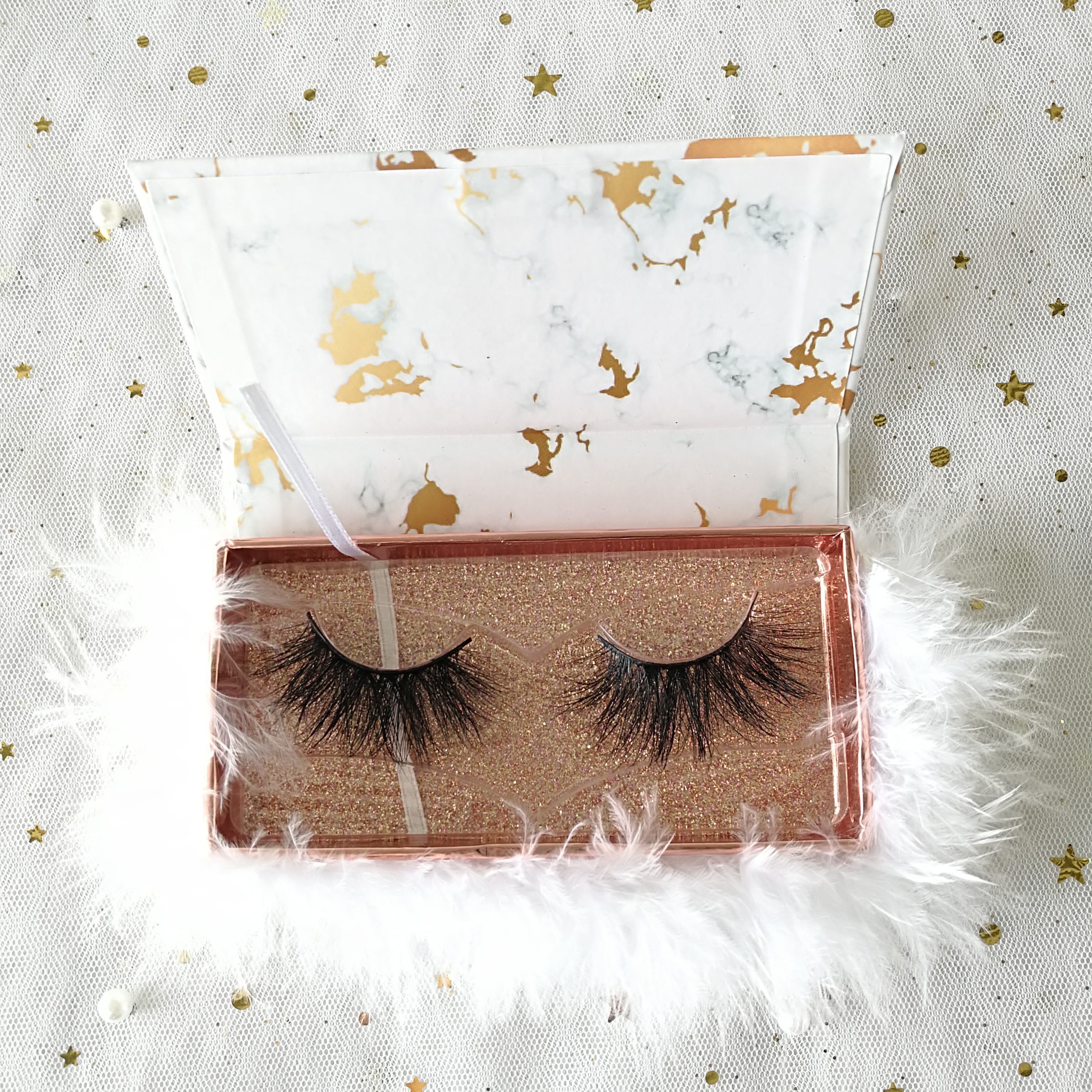 lashes3d wholesale vendor 100% 25mm Mink Fur Eyelash Private Label eyelash packaging box