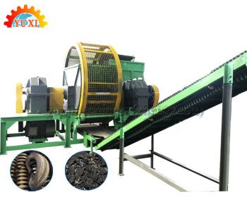 Industrial 3Ton/H Mini Primary Waste Truck Tire Shredder Cost Rubber Car Tire Crusher Machine For Sale With Low Price