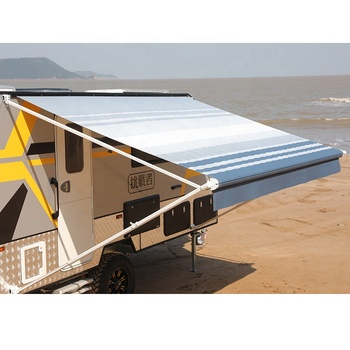 Hot sale factory price rv camper roll out caravan awning for rv
