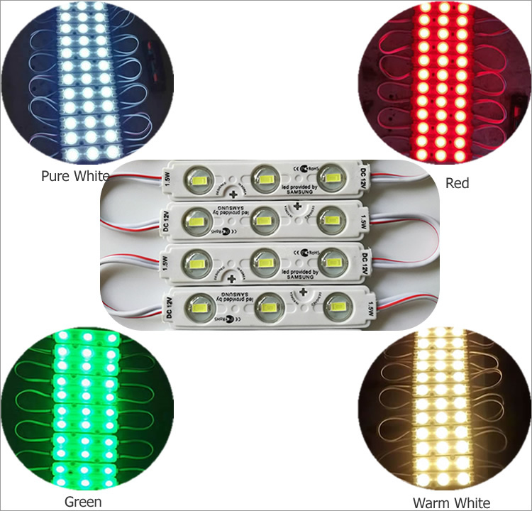 12v smd 5730 1.5w waterproof injection lens light led module