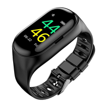 <strong>Smart</strong> <strong>Watch</strong> Bracelet BT Earphone 2 in 1 with Step Counting Heart Rate Sports <strong>Smart</strong> <strong>Watch</strong> for iOS and Android