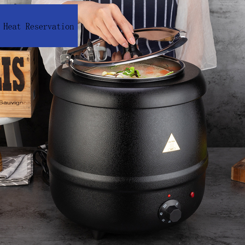 Stainless Steel Buffet Electric Heating Soup Kettle 10 L Electric Soup Warmer