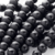 Wholesale 8mm natural Matte black onyx lettering beads jewelry accessories