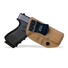 OEM/ODM IWB KYDEX Holster Fits: Glock 19 19X 23 25 32 CZ P10 Tactical Gun Holster Inside Concealed Waist Carry Pistol Case Tan
