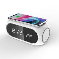 Multi-function LED Temperature Clock Display Wireless Charging Alarm Clock