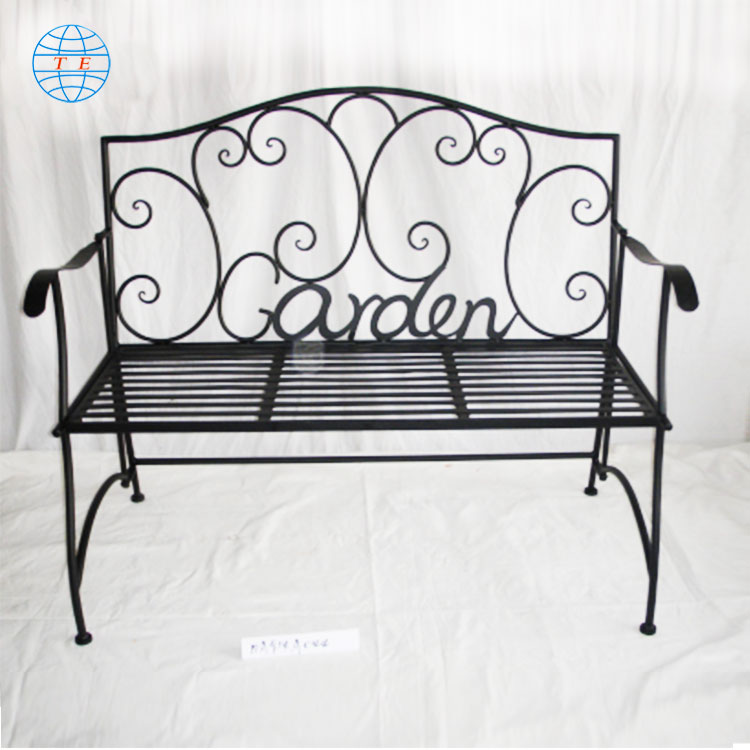 Chinese new products serve iron bench park bench European style garden bench