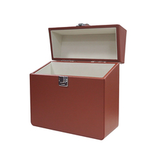 <span class=keywords><strong>Neue</strong></span> design professionelle leder vinyl rekord lagerung box rekord fall