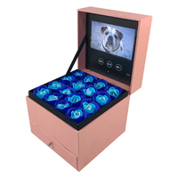 lcd video Box pull Drawer automatic playing , wooden gift box