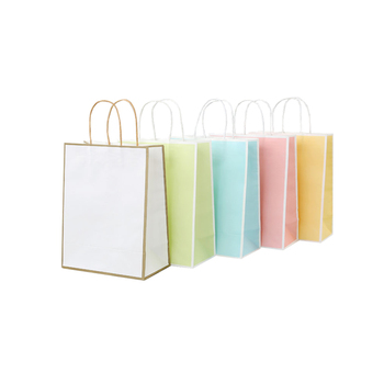 In Stock Manufacturer Low Cost Custom Printed Your Own Logo Kraft Shopping Paper Bag For Clothing Gift Food Packaging