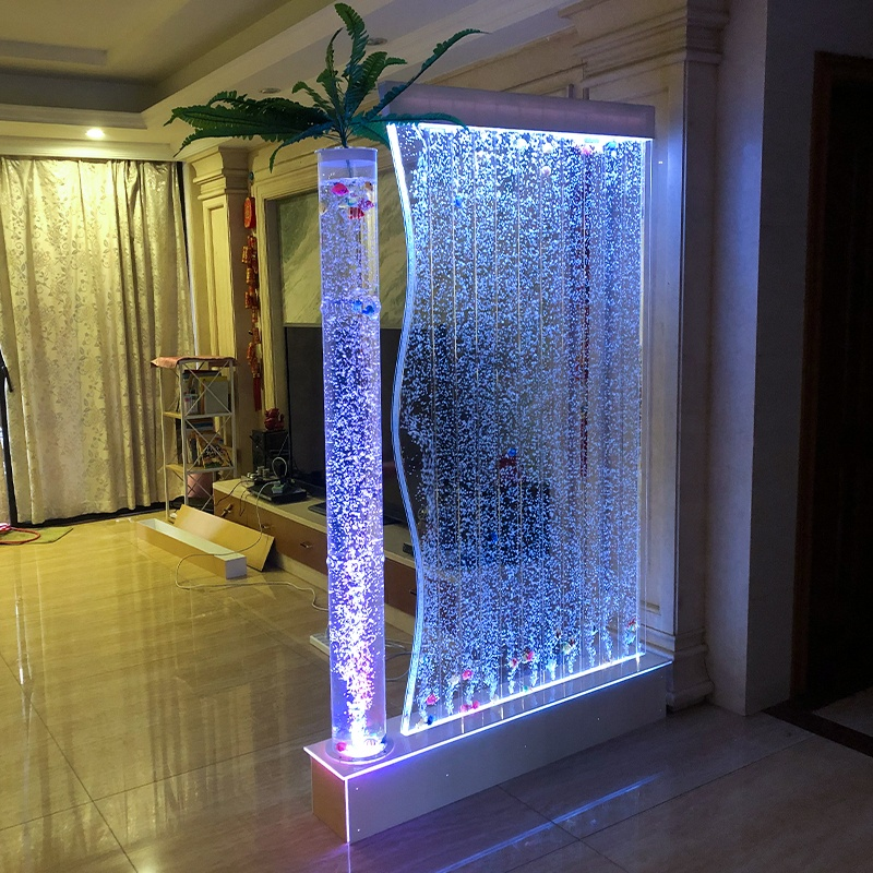 home decoration LED light aquarium water bubble panel wall