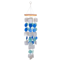 2019 Best Natural Craft Raw Blue Capiz Shell For Wind Chimes