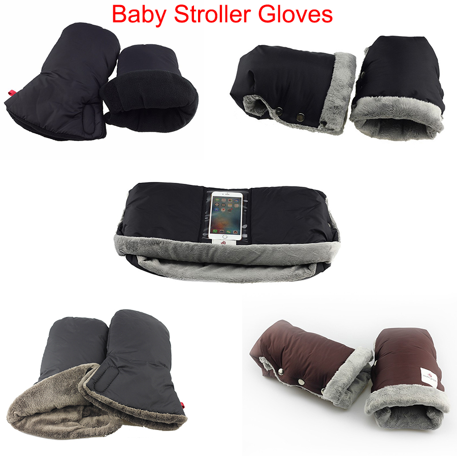 Waterproof Anti-freeze Stroller Gloves with Phone Pocket