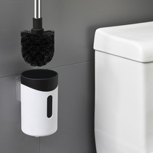 New fashion household toilet <strong>brush</strong> with bracket self-volatile PP <strong>brush</strong> head toilet <strong>brush</strong>