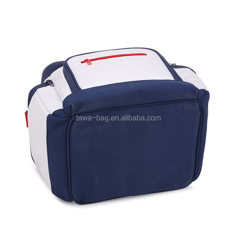 Canvas large cooler bags with side pockets