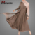 Modest Women Islamic Clothing Abaya Mocha Layered Evening Gown Muslim Dress
