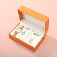Women's quartz watch set luxury five-piece bracelet necklace ring earrings birthday <strong>gift</strong> fashion valentine's day <strong>gift</strong> with box