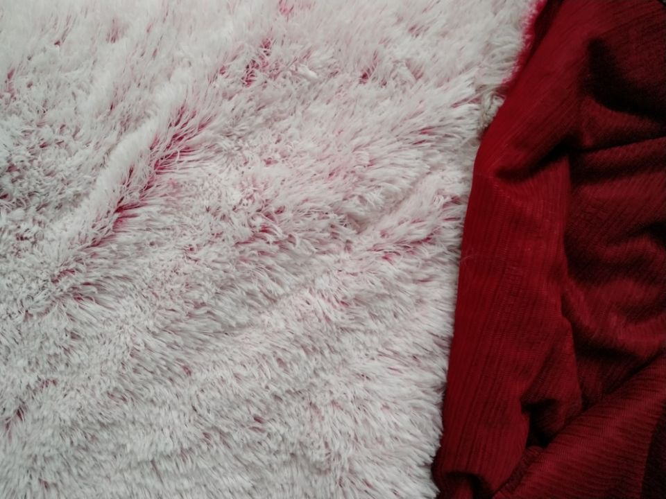 100% Polyester Wholesale long pile plush fabric solid color pv fleece