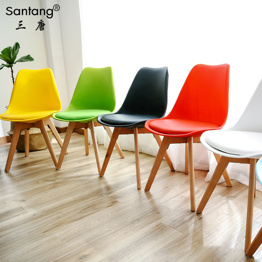 Free Sample Morden Tulip Chair Wholesale Cheap Dining Room Chairs Home  Furniture New Design Wooden Legs Plastic Dining Chair - Buy Chair,Dining ...