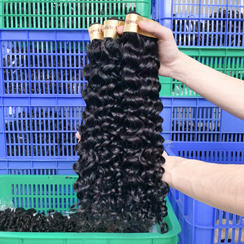 Alimina Good Factory price deep wave brazilian hair 40 inch human hair, Brazilian remy bundles human hair weave