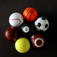 Wholesale 2 Layer Colorful Practice Golf Balls with Custom Logo