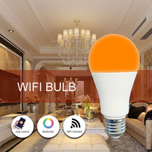 Free Logo Printing led smart <strong>bulb</strong> RGB wifi <strong>bulb</strong> led 9w focos inteligentes wifi dimmable remote control e27 led <strong>bulb</strong> light